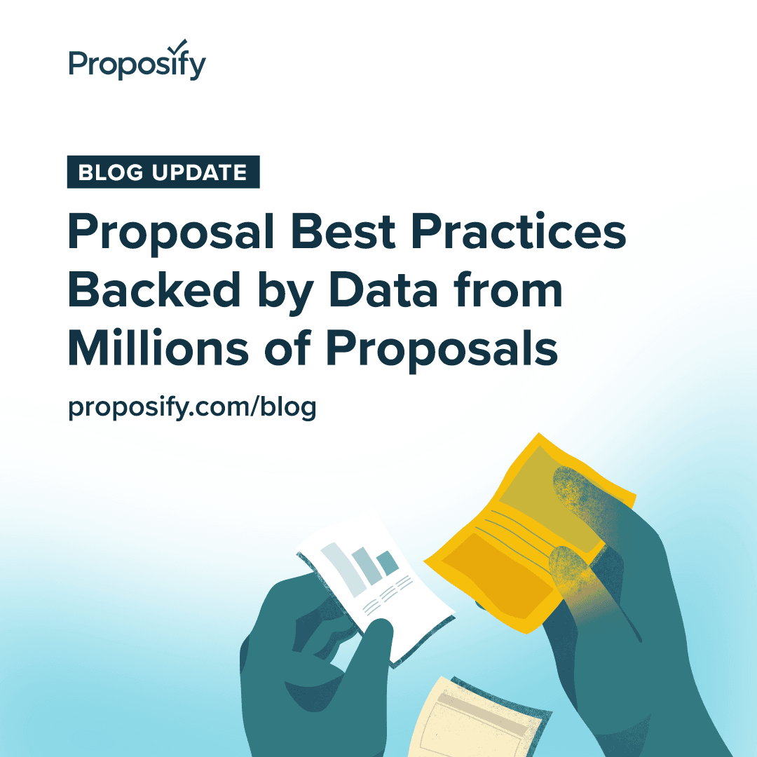 Blog Update: Proposal Best Practices Backed by Data from Millions of Proposals